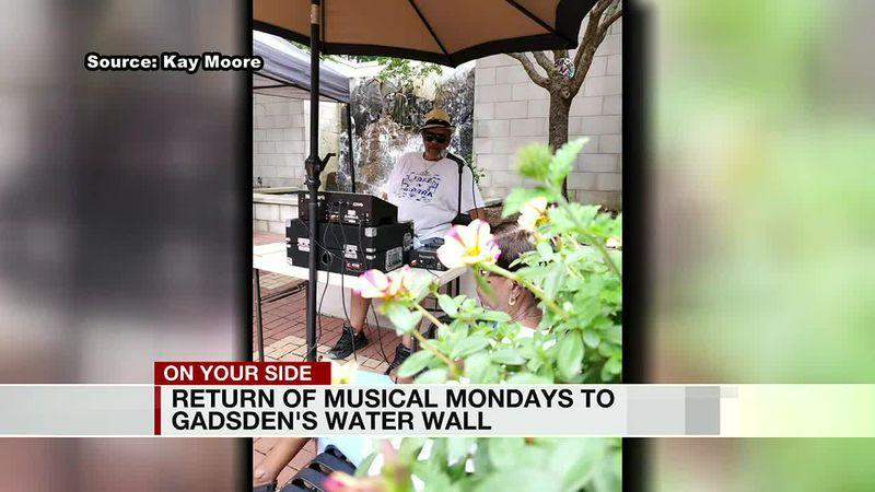 Return of Musical Mondays to Gadsden's water wall