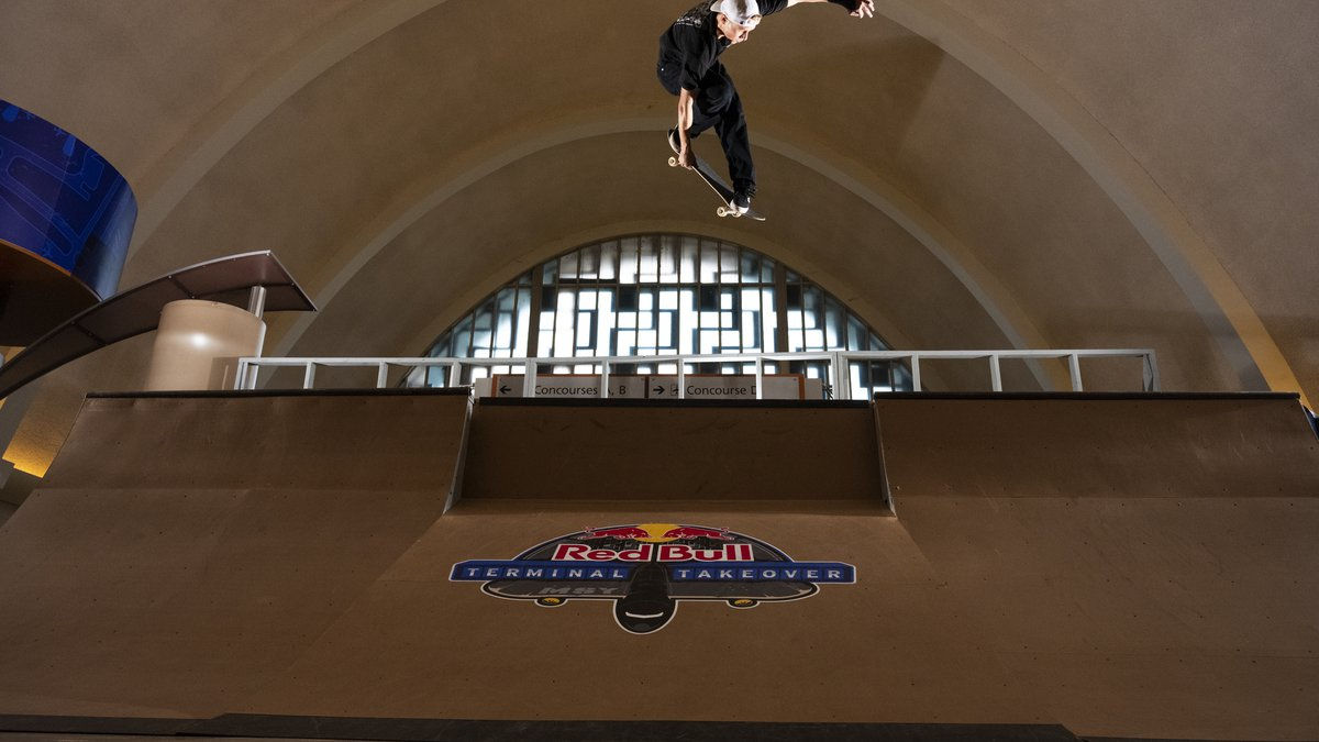 Jake Wooten performs an Indy air at Red Bull Terminal Takeover in New Orleans, Louisiana, USA...
