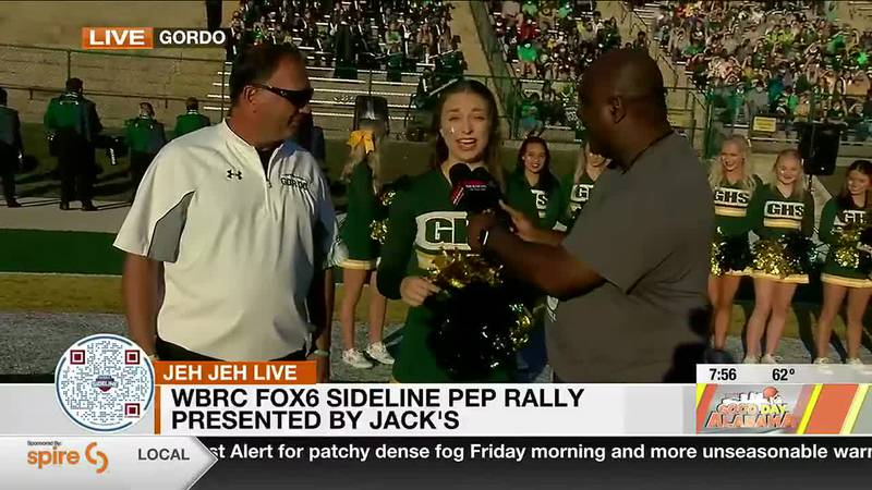 JehJeh joins us live from Gordo High School for the WBRCFox6 Sideline Pep Rally Presented by...