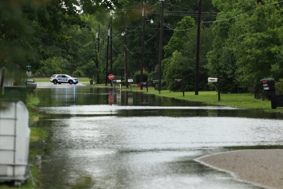 Flooded streets Atmore, Al