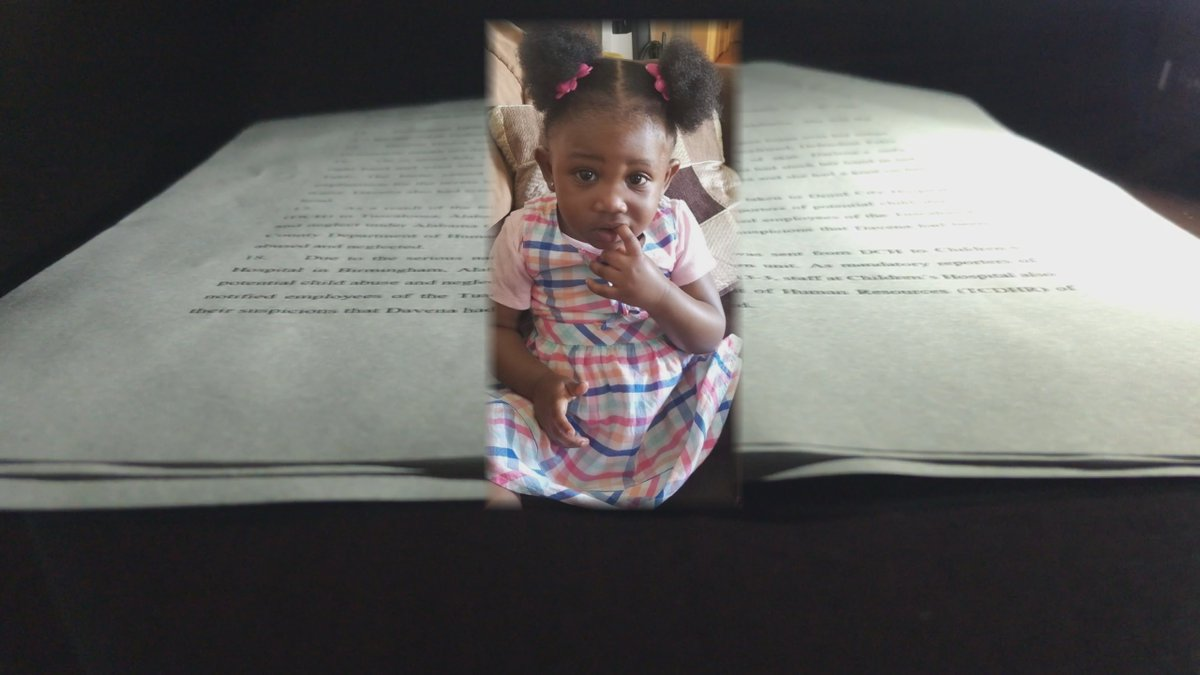 The family of 19-month-old Davena Hinton has filed a wrongful death lawsuit against the Alabama...