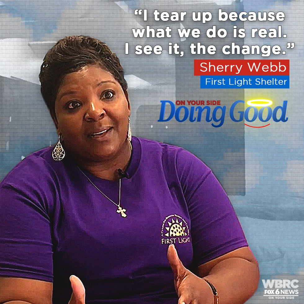 "Sherry Webb ""Doing Good"" at First Light Shelter"