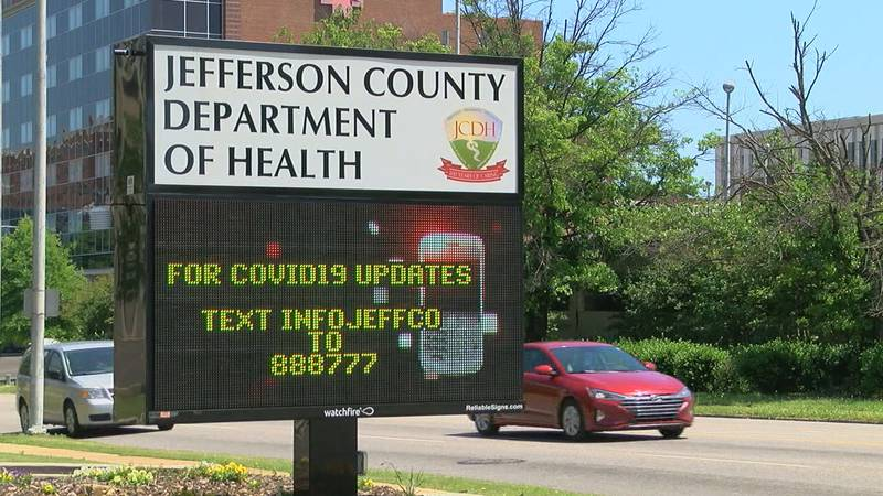There is a positive outlook on COVID cases compared to the large numbers the Jefferson County...