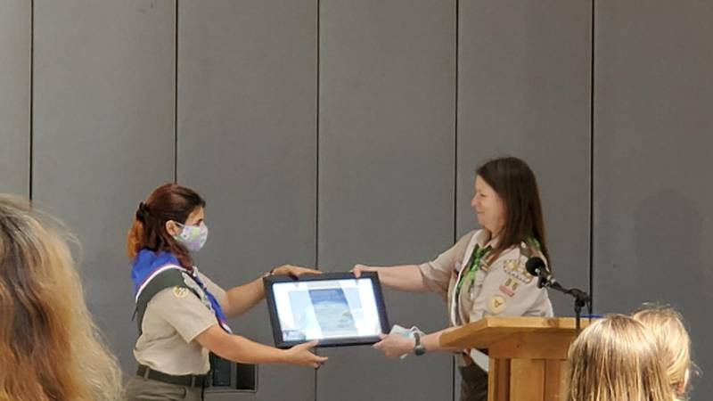 local girl breaking barriers becoming one of state's first female eagle scouts