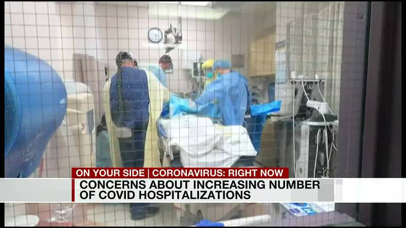 Concerns about increasing number of COVID hospitalizations