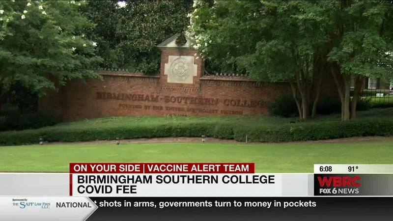 Birmingham Southern College COVID fee