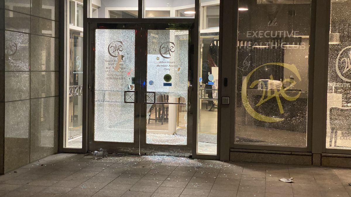 Protests turn to unrest, vandalism in downtown Birmingham