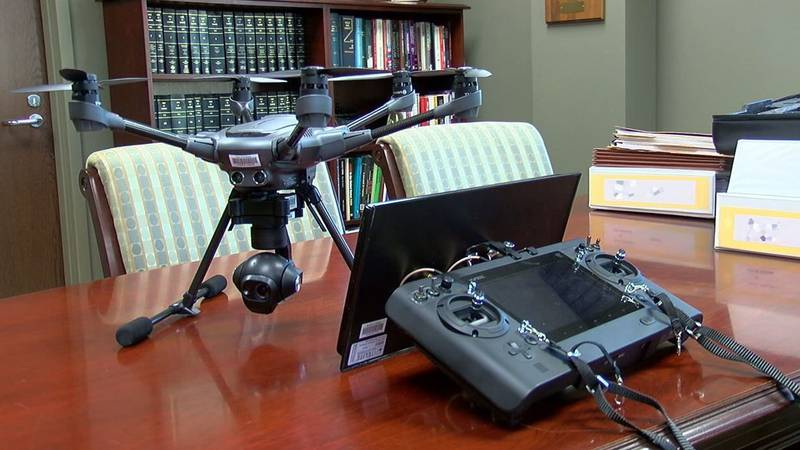 New drone donated to Pelham PD. (Source: WBRC video)