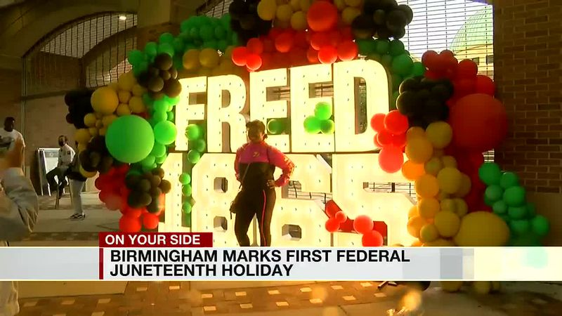 Birmingham marks first federal Juneteenth holiday