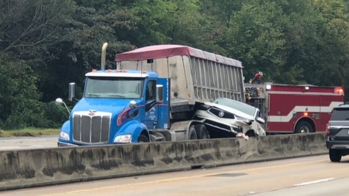 One person hurt in accident on I-65S