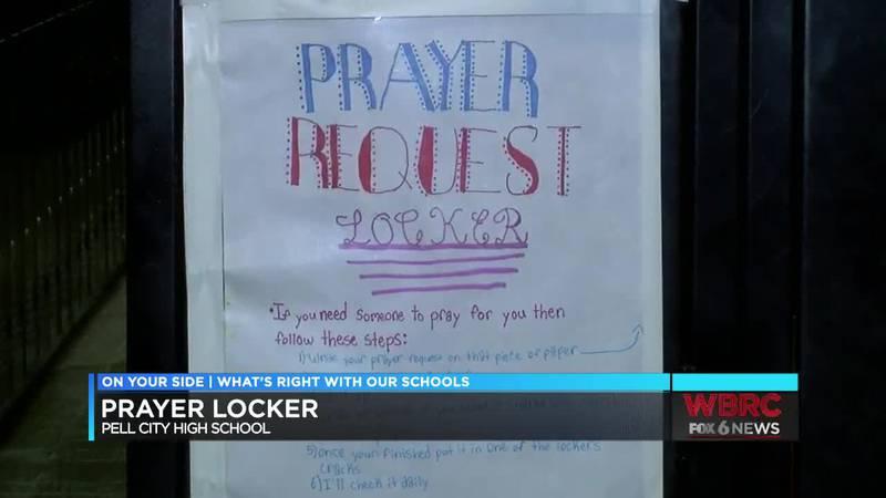 Prayer locker at Pell City High School