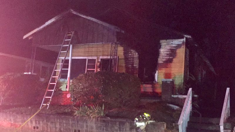 A Birmingham family lost their home in an early morning fire on Friday. (Source: Greg Long/WBRC)