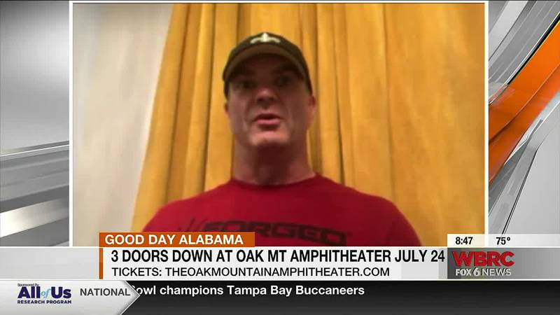 Guitarist for 3 Doors Down talks about concert at Oak Mountain