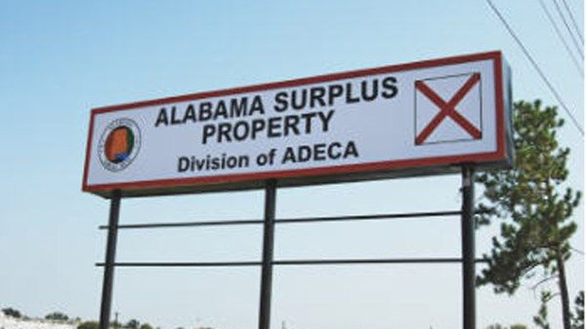 The Alabama Department of Economic and Community Affairs is hosting a surplus property auction.