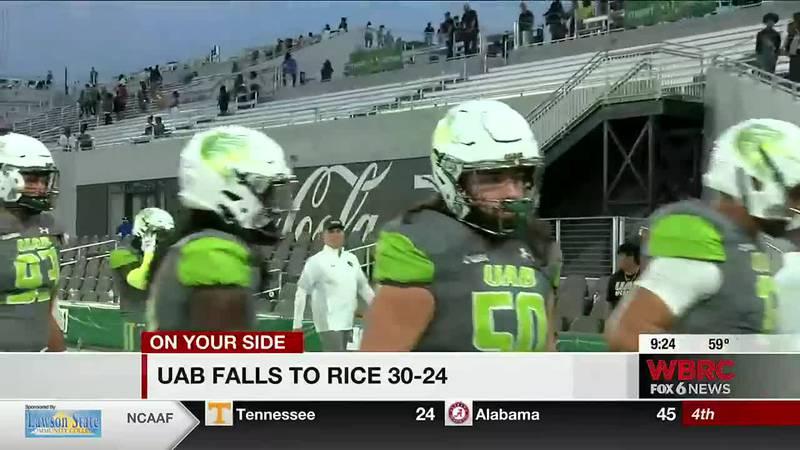 UAB falls to Rice, 30-24