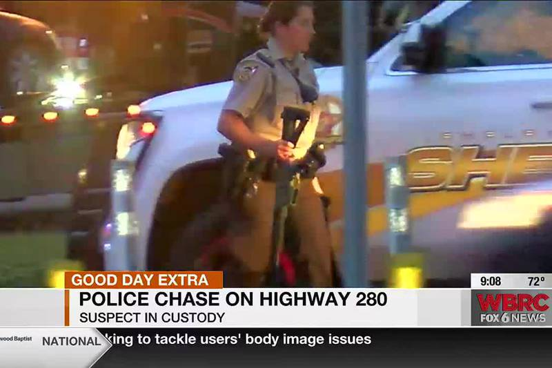 Police chase on Highway 280