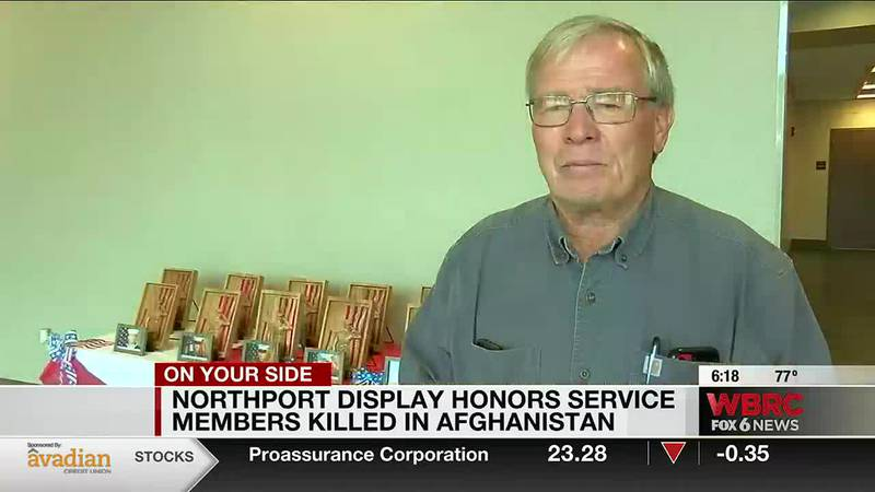 Northport display on 13 soldiers killed